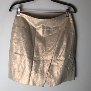 NWT J. Crew metallic skirt size 2